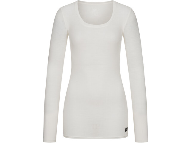 super.natural Rib LS Shirt Women, fresh white